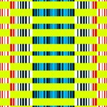 Rectangles and vertical stripes pattern