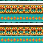 Tribal design in retro colors