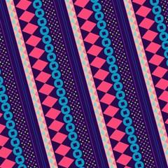 purple and pink retro geometric pattern