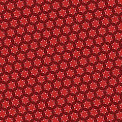 red passion floral pattern
