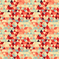 modern hipster triangle pattern red blue beige