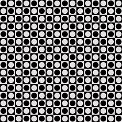 modern dots in squares mosaic black white