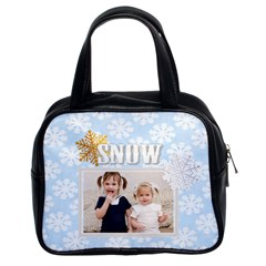 Snow Of Christmas By Joely   Classic Handbag (two Sides)   8mz5i452zrr8   Www Artscow Com Front