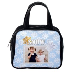Snow Of Christmas By Joely   Classic Handbag (two Sides)   8mz5i452zrr8   Www Artscow Com Back