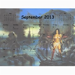 Clr By Majo   Wall Calendar 11  X 8 5  (12 Months)   Mayg9authvdu   Www Artscow Com Sep 2013
