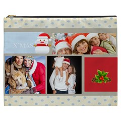 Merry Christmas, Xmas, Happy New Year  By Angena Jolin   Cosmetic Bag (xxxl)   H7zcfwrie2uy   Www Artscow Com Front