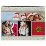 merry christmas, xmas, happy new year  - Cosmetic Bag (XXXL)