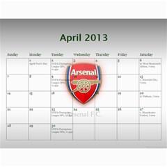 Arsenal Calendar Iii By Gj   Wall Calendar 11  X 8 5  (12 Months)   Qntu3ao4u32h   Www Artscow Com Apr 2013