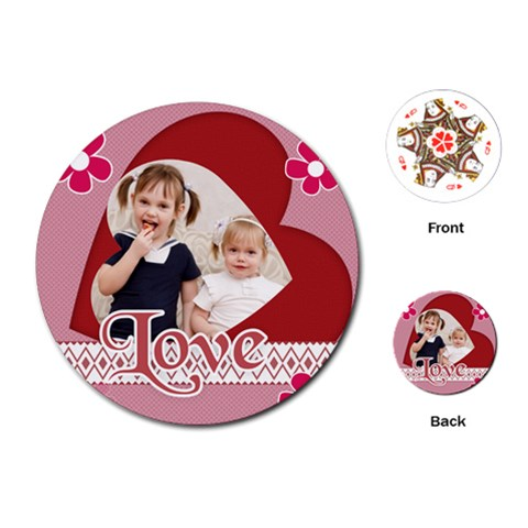 Love Of Kids By Joely   Playing Cards (round)   Ck9sdwss2rsn   Www Artscow Com Front