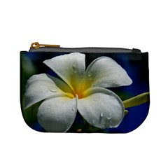 Frangipani Tropical Flower Coin Change Purse