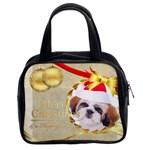 kids happy , gun, baby, happy holiday - Classic Handbag (One Side)