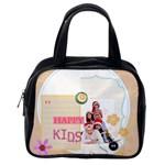 kids happy , gun, baby,  - Classic Handbag (One Side)