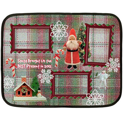 Santa Brought Us The Best Present In 2012 Mini Fleece Blanket By Ellan   Fleece Blanket (mini)   Vxa70l454e9n   Www Artscow Com 35 x27 Blanket