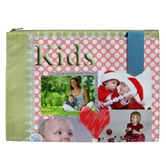 Kids, Fun, Child, Play, Happy By Debe Lee   Cosmetic Bag (xxl)   Hzsa2xsw0oki   Www Artscow Com Front