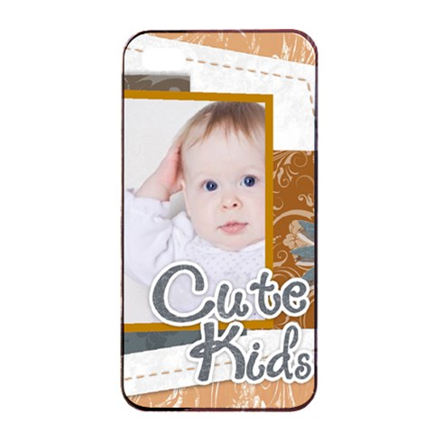 Kids, Fun, Child, Play, Happy By Betty   Apple Iphone 4/4s Seamless Case (black)   Lt1vwxs31u1l   Www Artscow Com Front