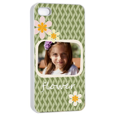 Flower  By Joely   Apple Iphone 4/4s Seamless Case (white)   Uphstj2zcsgl   Www Artscow Com Front