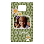 flower , kids, happy, fun, green - Samsung Galaxy S2 i9100 Hardshell Case
