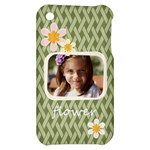 flower , kids, happy, fun, green - Apple iPhone 3G/3GS Hardshell Case
