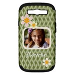 flower , kids, happy, fun, green - Samsung Galaxy S III Hardshell Case (PC+Silicone)