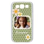flower , kids, happy, fun, green - Samsung Galaxy S III Case (White)