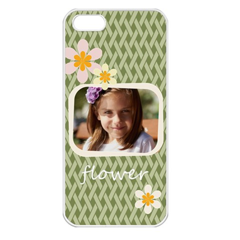 Flower , Kids, Happy, Fun, Green By Joely   Apple Iphone 5 Seamless Case (white)   21kvambpuedw   Www Artscow Com Front