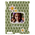flower , kids, happy, fun, green - Apple iPad 2 Hardshell Case (Compatible with Smart Cover)