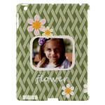 flower , kids, happy, fun, green - Apple iPad 3/4 Hardshell Case (Compatible with Smart Cover)