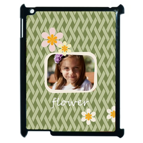 Flower , Kids, Happy, Fun, Green By Joely   Apple Ipad 2 Case (black)   9rt1wqfuuakg   Www Artscow Com Front