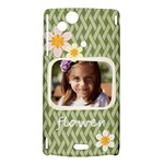 flower , kids, happy, fun, green - Sony Xperia Arc Hardshell Case