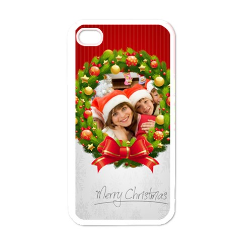 Merry Christmas, Happy New Year, Season By Mac Book   Apple Iphone 4 Case (white)   Wnet8ig6bz4y   Www Artscow Com Front