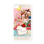 merry christmas, happy new year, season - Apple iPhone 4 Case (White)