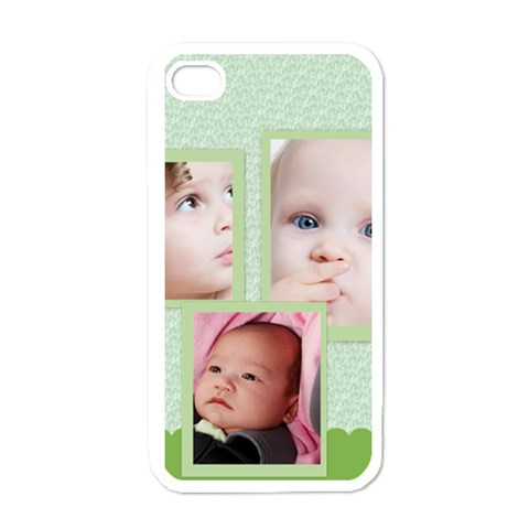 Kids, Happy, Fun, Play, Family By Mac Book   Apple Iphone 4 Case (white)   Ftds1oxdh5sy   Www Artscow Com Front