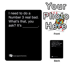 Cards Against Humanity E1 1 By Erik   Multi Purpose Cards (rectangle)   4ady8l0m54a8   Www Artscow Com Front 11