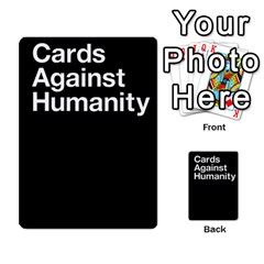 Cards Against Humanity E1 1 By Erik   Multi Purpose Cards (rectangle)   4ady8l0m54a8   Www Artscow Com Back 3