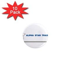 Alpha Star 10 Pack Mini Magnet (Round) by designmystuff