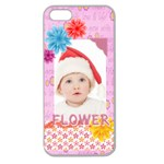 flower, kids , happy - Apple Seamless iPhone 5 Case (Clear)