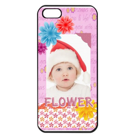 Flower, Kids , Happy By Betty   Apple Iphone 5 Seamless Case (black)   2j4rebzdjv60   Www Artscow Com Front