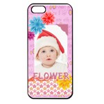 flower, kids , happy - Apple iPhone 5 Seamless Case (Black)