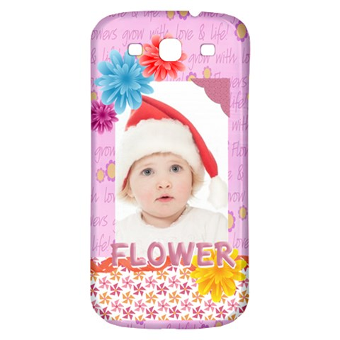 Flower, Kids , Happy By Betty   Samsung Galaxy S3 S Iii Classic Hardshell Back Case   Gkmnz79h5c53   Www Artscow Com Front