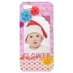 flower, kids , happy - Apple iPhone 5 Hardshell Case