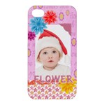 flower, kids , happy - Apple iPhone 4/4S Premium Hardshell Case