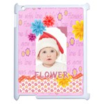 flower, kids , happy - Apple iPad 2 Case (White)