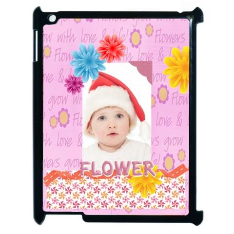 Flower, Kids , Happy By Betty   Apple Ipad 2 Case (black)   Jm0appn9ngf3   Www Artscow Com Front