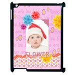 flower, kids , happy - Apple iPad 2 Case (Black)
