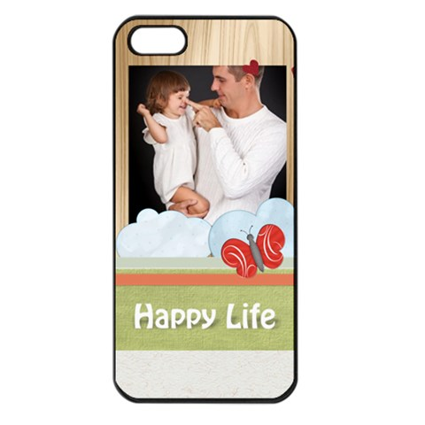 Happy Kids, Family By Jo Jo   Apple Iphone 5 Seamless Case (black)   N8rd73fsmq1q   Www Artscow Com Front