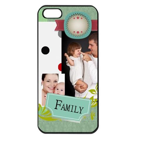 Happy Kids, Family By Jo Jo   Apple Iphone 5 Seamless Case (black)   8gu3yx5m2ppy   Www Artscow Com Front