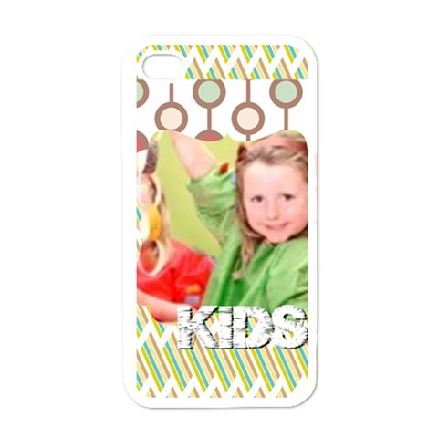 Love, Kids, Happy, Fun, Family, Holiday By Mac Book   Apple Iphone 4 Case (white)   Lf8uz140bs1m   Www Artscow Com Front