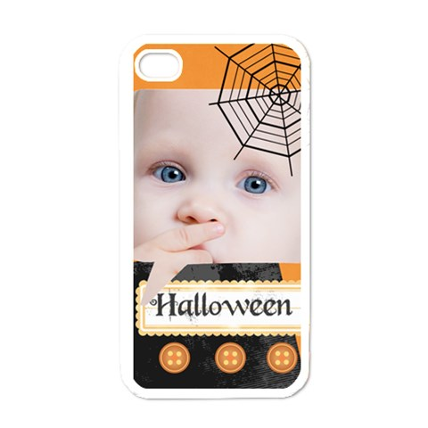 Halloween By Mac Book   Apple Iphone 4 Case (white)   Pt67dksxrvgo   Www Artscow Com Front