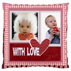 Flower Of Kids, Love, Happy By Mac Book   Large Cushion Case (two Sides)   Wbyyy5bui8mj   Www Artscow Com Front