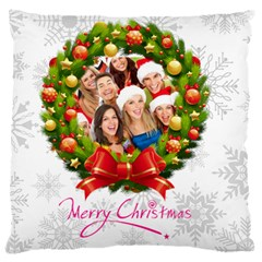 Merry Christmas, Xmas, Happy New Year  By Mac Book   Large Cushion Case (two Sides)   Lvwrsrdnm2jo   Www Artscow Com Back